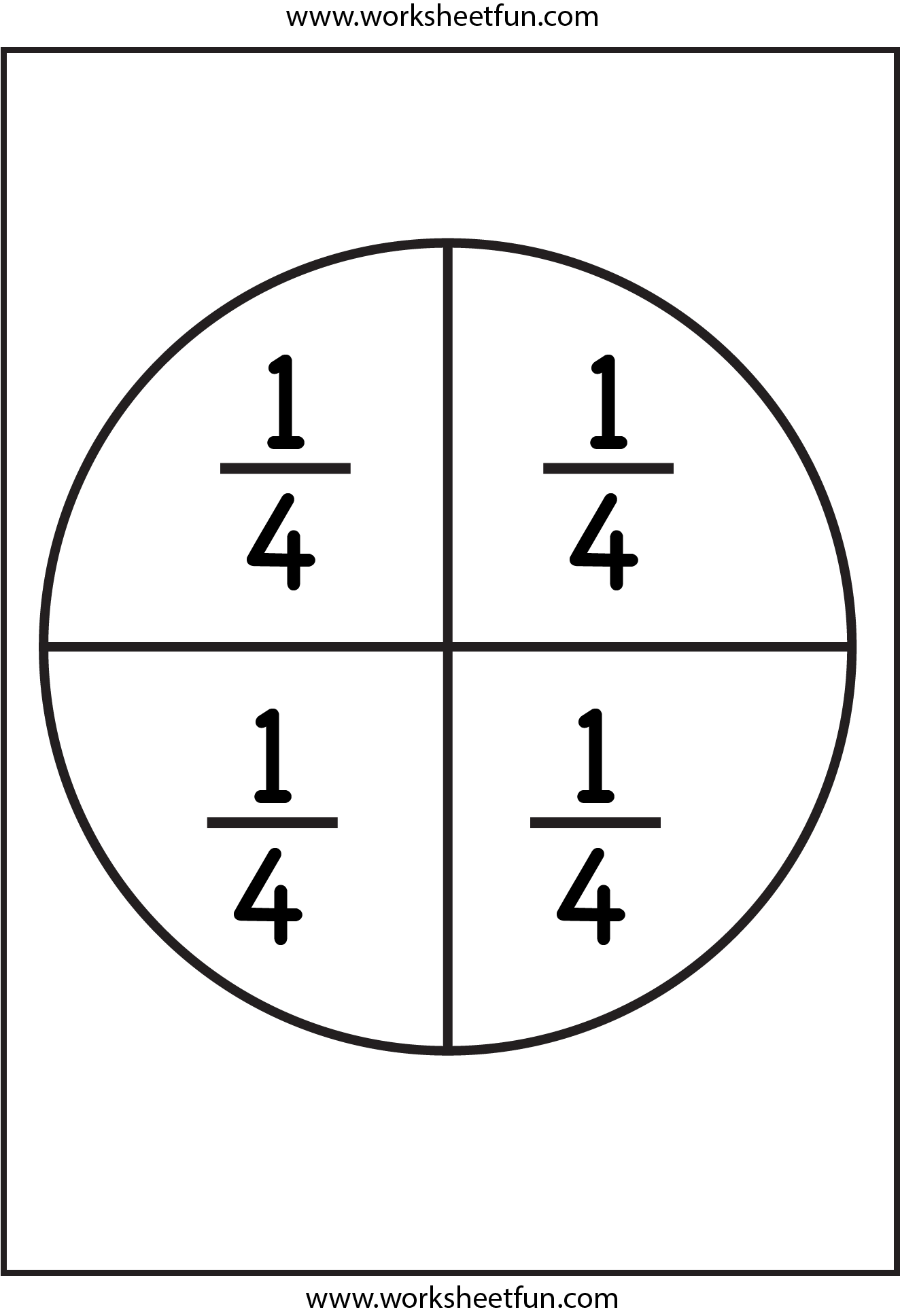 Fractions Circles And Worksheets