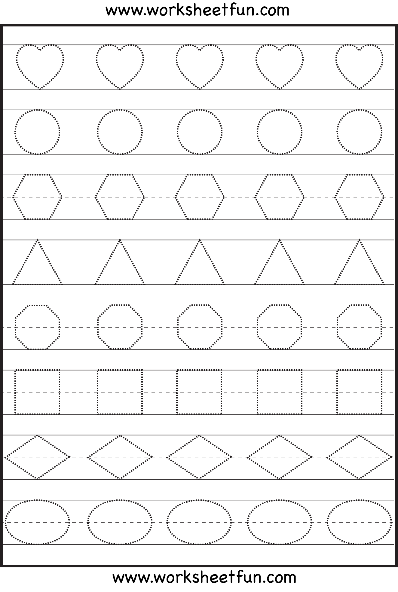 Free Printable Preschool Tracing Worksheet To Print