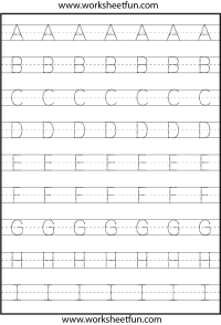 Tracing  Uppercase Letters  Capital Letters  3 ...