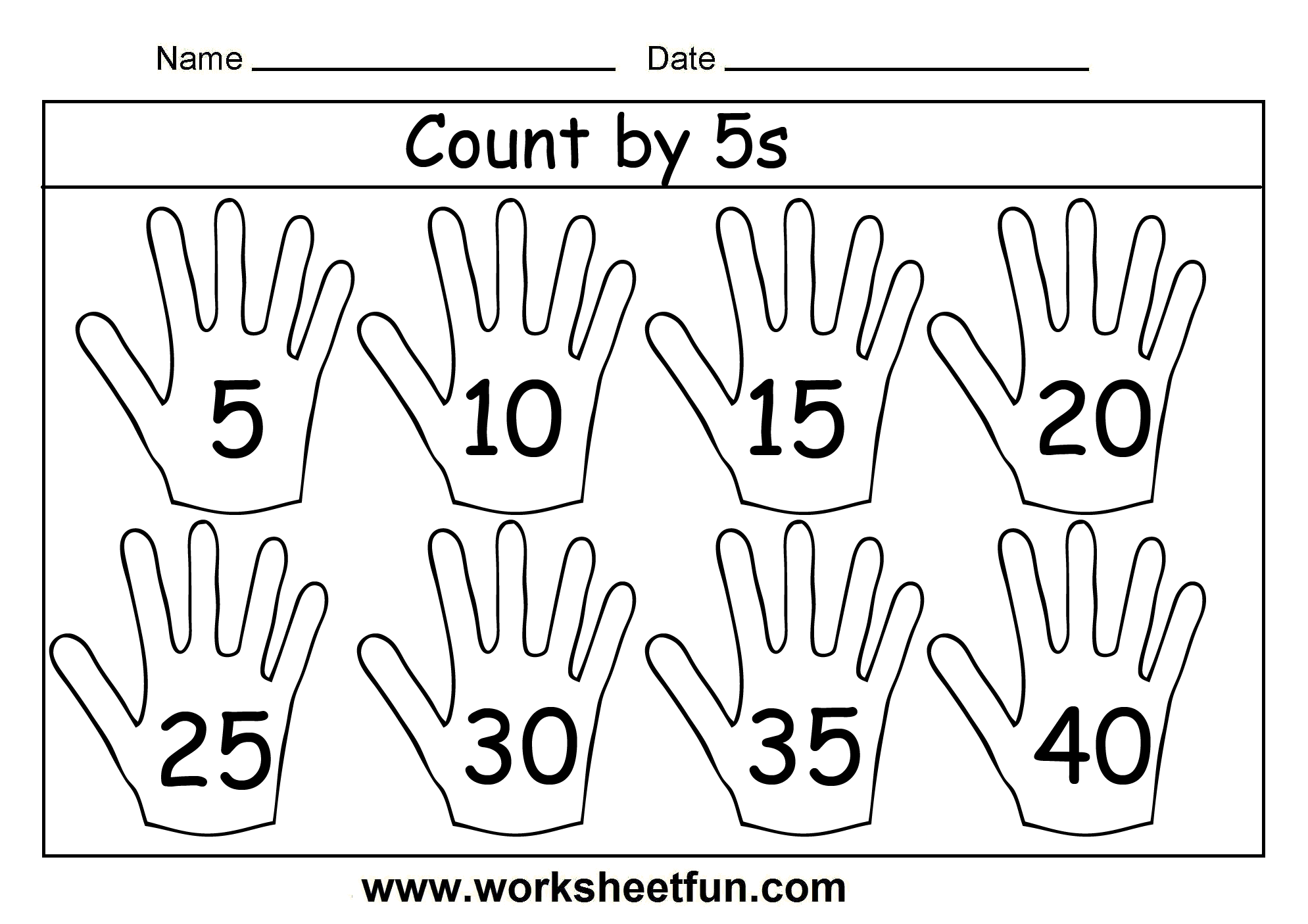Count By 5s 3 Worksheets Free Printable Worksheets Worksheetfun