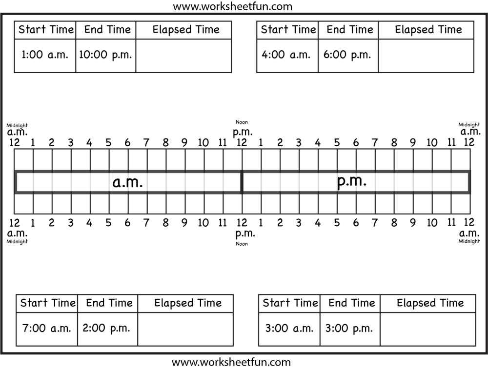 medium resolution of Worksheets On Elapsed Time   Printable Worksheets and Activities for  Teachers
