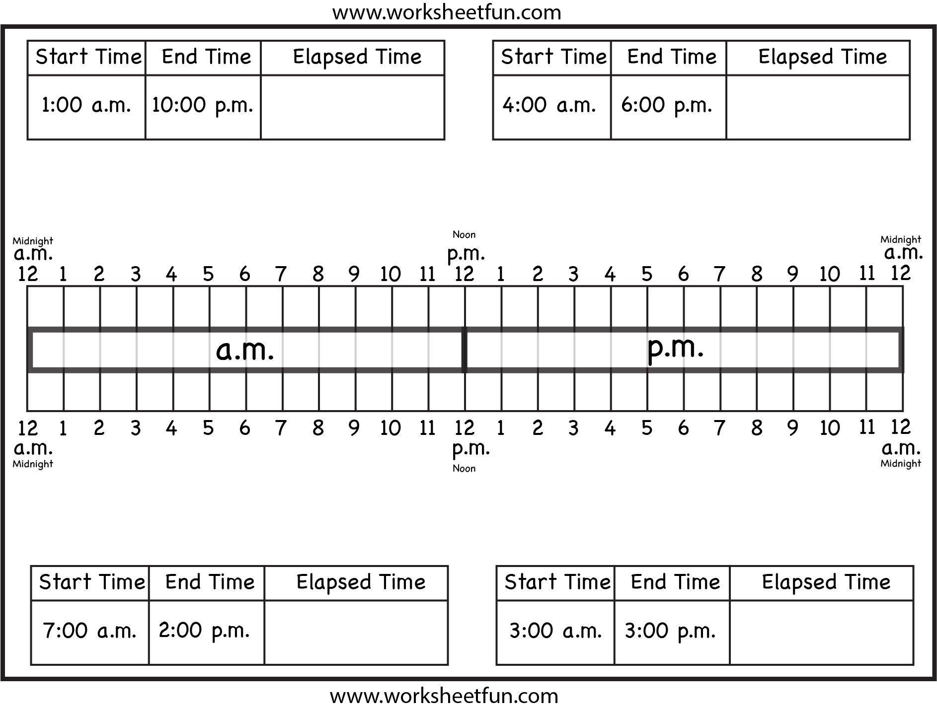 hight resolution of Worksheets On Elapsed Time   Printable Worksheets and Activities for  Teachers