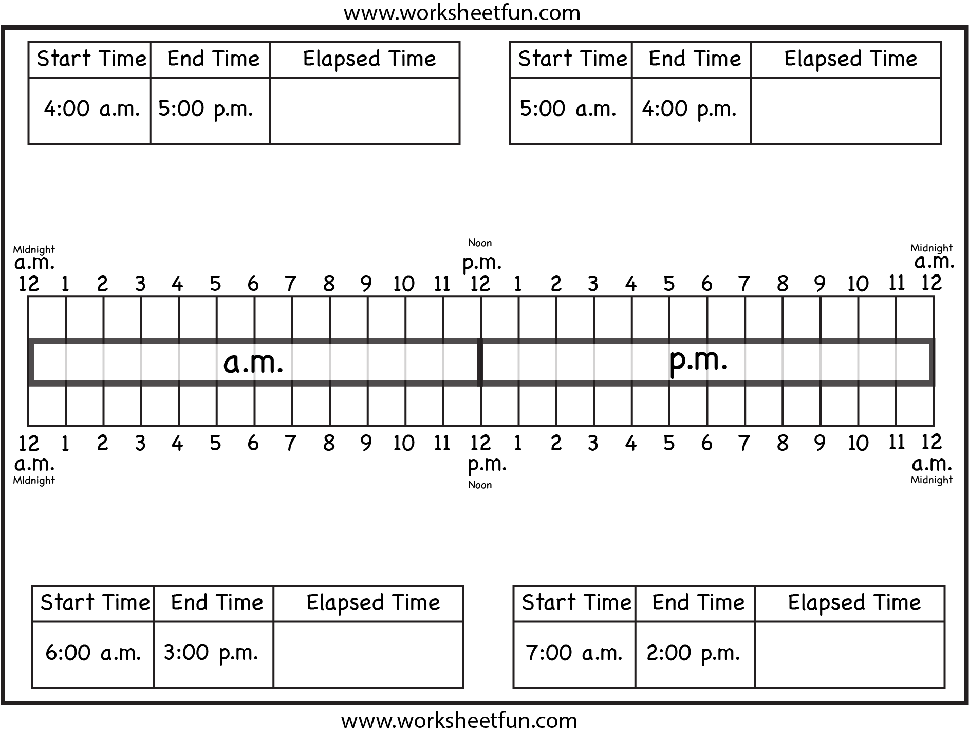Calculate Elapsed Time Ten Worksheets Free Printable Worksheets Worksheetfun