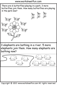 Addition Word Problems  Three Worksheets / FREE Printable ...