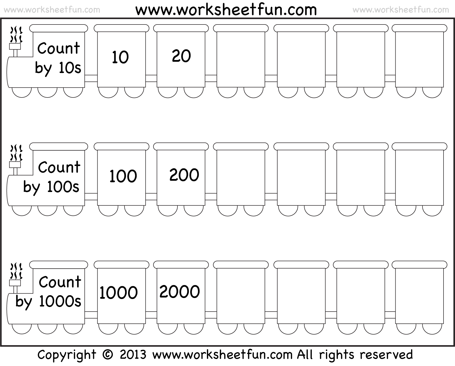 New 6 Counting By 100 S Worksheets Free