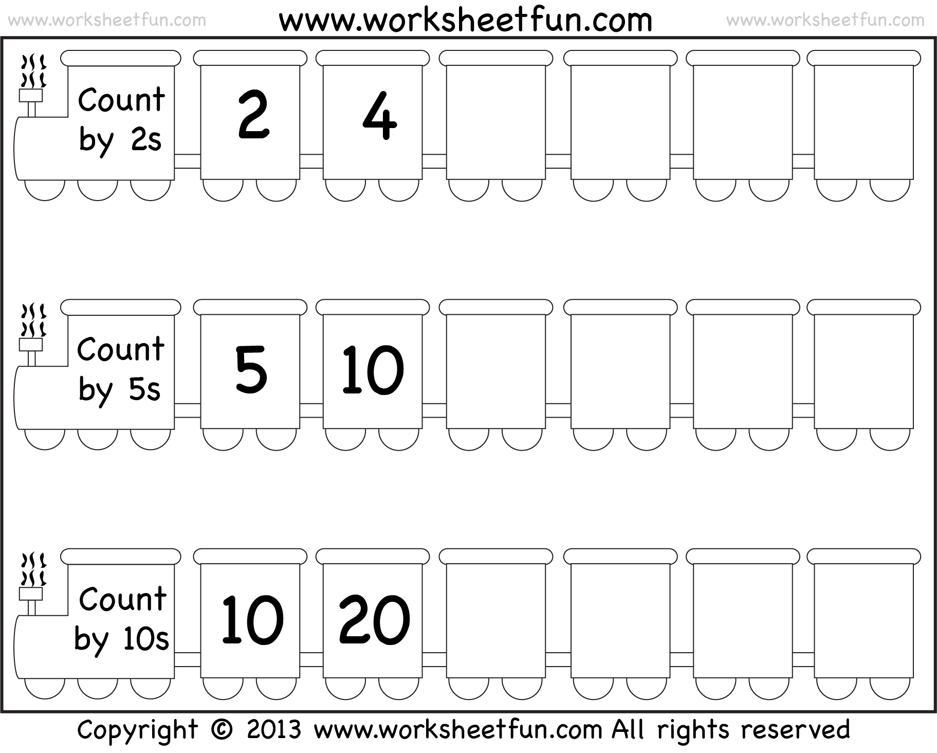Skip Counting By 2 5 And 10 Worksheet Free Printable Worksheets Worksheetfun