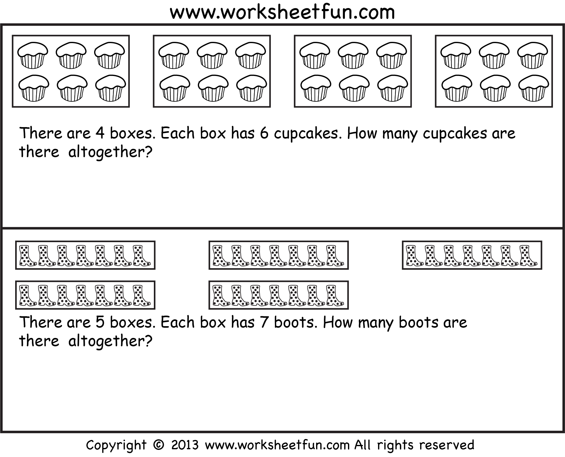 Addition Subtraction Multiplication Division Word Problems Worksheet