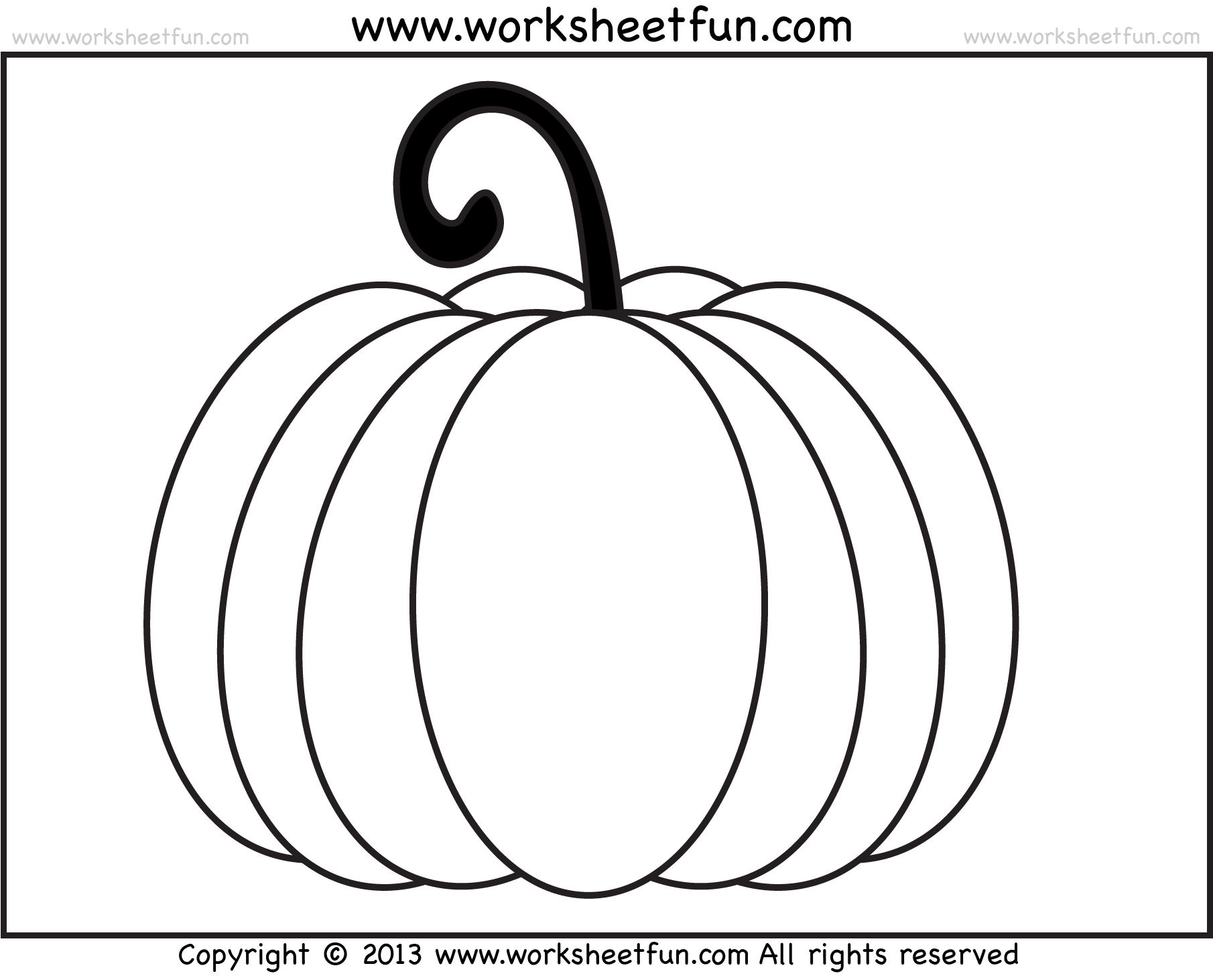 Worksheet For Preschool Halloween Pumpkin