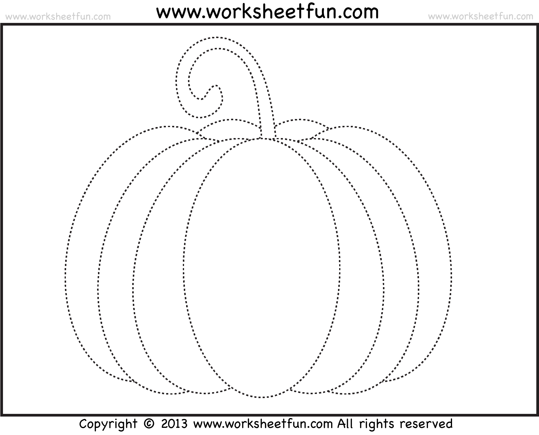 Free Pumpkin Patch Worksheets