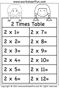 Times Tables Worksheets  2, 3, 4, 5, 6, 7, 8, 9, 10, 11 ...
