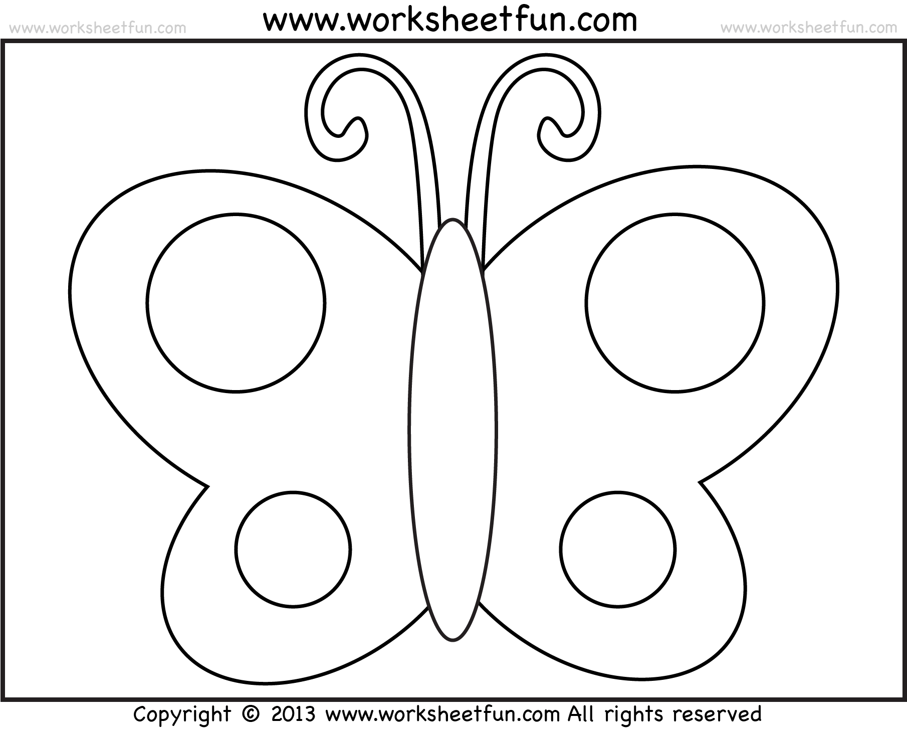 Butterfly Tracing And Coloring 4 Preschool Worksheets Free Printable Worksheets Worksheetfun