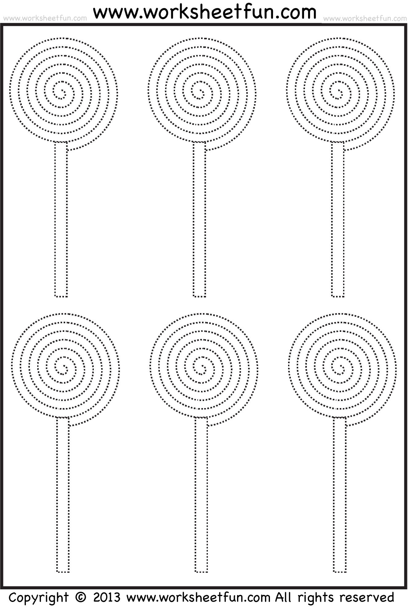 Candy Tracing And Coloring 4 Halloween Worksheets Free Printable Worksheets Worksheetfun