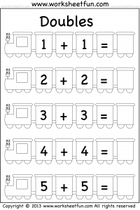Addition Doubles / FREE Printable Worksheets
