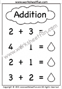 Kindergarten Addition Worksheets – Beginner Addition