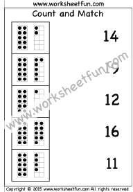 Count and Match – Numbers 1-20