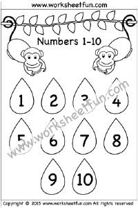 Number Chart 1-10 / FREE Printable Worksheets