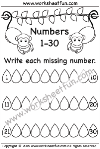 Fill In The Blank Number Worksheets For Kindergarten