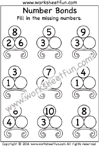Number Bonds / FREE Printable Worksheets