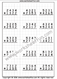 Addition – 4 Digit / FREE Printable Worksheets