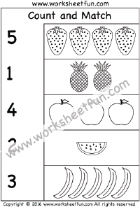 Printables. Count And Match Numbers 1-20. Darkcontinents