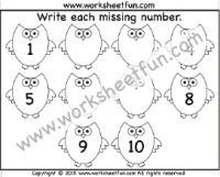 Numbers – Missing / FREE Printable Worksheets