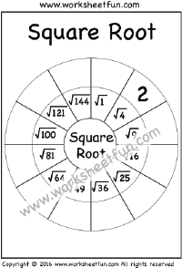 Square Roots of Perfect Squares / FREE Printable
