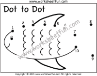 Dot to Dot – Fish – Numbers 1-10