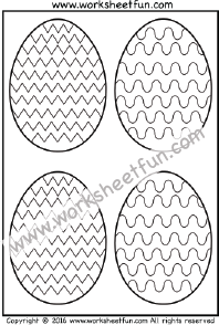 Easter Eggs – Coloring – Curved and Zig Zag Line