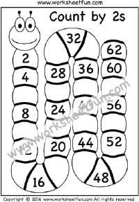 Grade 2 skip counting worksheets / FREE Printable