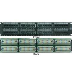 rackmount 48 port cat6 patch panel horizontal 110 type 568a 568b compatible 2u [ 900 x 900 Pixel ]