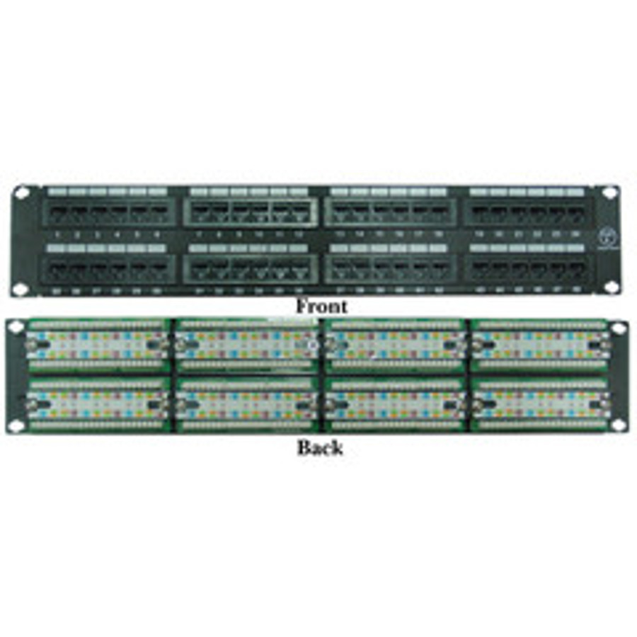 hight resolution of rackmount 48 port cat6 patch panel horizontal 110 type 568a 568b compatible 2u