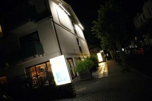 Strandhotel Binz Eingang bei Nacht