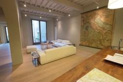 Loungebereich des La Bandit Townhouse Pienza