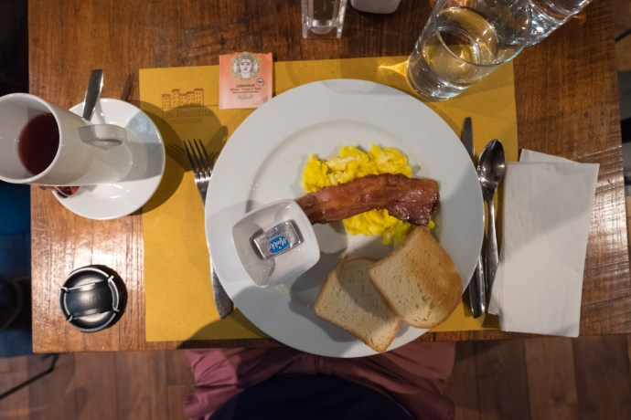Rührei mit Bacon