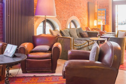 Chill-out Lounge in der Lobby