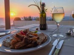 Tolle Sonnenuntergänge beim Abendessen