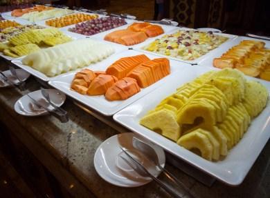 Frisches Obst in Buffetform