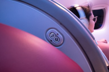 Qatar Airways Business Class nach Auckland - Sitzbedienung
