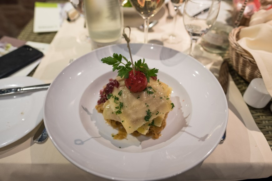 Restaurant Salierhof - Saumagen Maultaschen