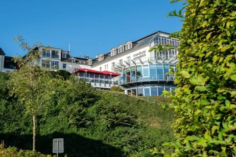 Hotel Heimathafen Usedom - Blick auf das Strandhotel Ostseeblick