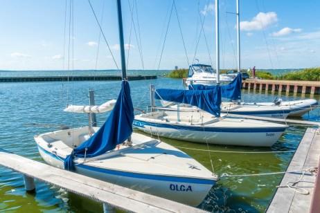Usedom - Achterwasser Ückeritz - Segelboote