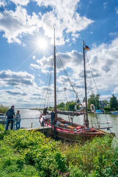 Historisches Zeesboot bzw. Zeesenboot auf Usedom