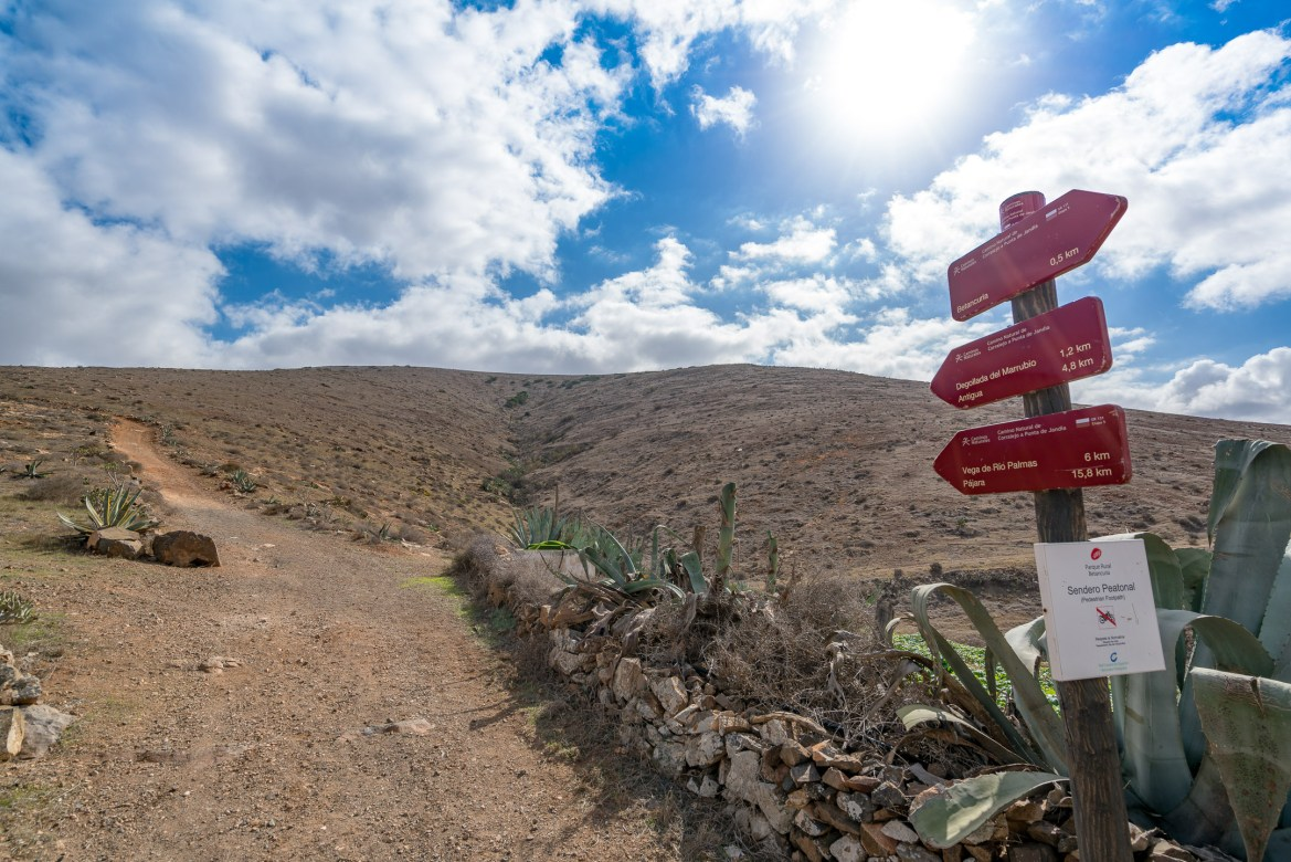 Wanderung Fuerteventura - Von Betancuria zum Morro Velosa - Fernwanderweg GR 131 - Camino la Cuesta de Antigua