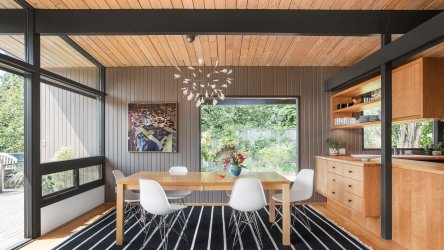 mid century modern shed renovation midcentury designs hillside architecture room 1950s seattle built renovated renovations spectacular 1950 dining washington
