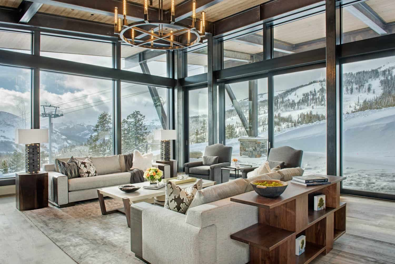 Mountain Peek   Modern Rustic Home in Montana   Wowow Home Magazine
