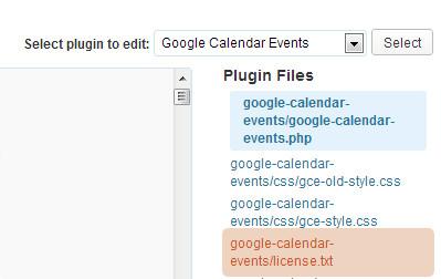Copying Calendar Stylesheet