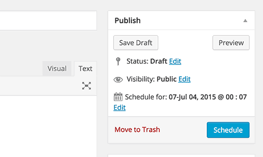 Scheduling a post in WordPress