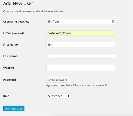 WordPress will send password reset link instead of plain text passwords in email to new users