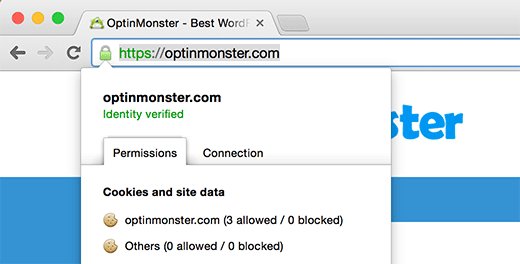 A site secured by SSL and HTTPS