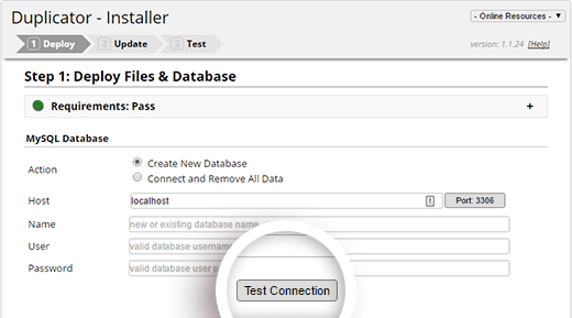 Test your database connection